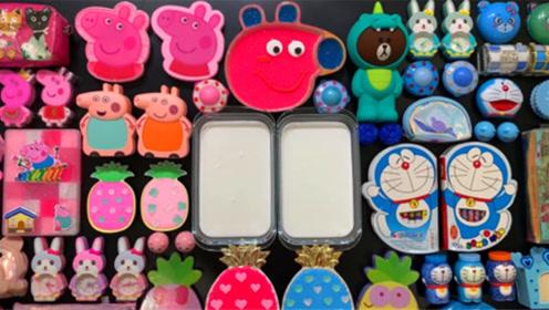 DIY史莱姆教程,机器猫彩泥+菠萝水果泥+闹钟饰品+果冻泥,手感超棒