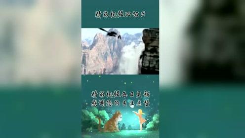 阿紫以为萧峰已经死了,竟抱着他一起跳崖,谁知萧峰却突然睁开眼