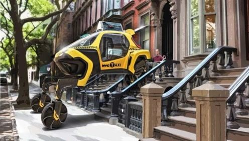 一款无路也能跑的SUV,轮子上长脚,还会直接爬楼梯