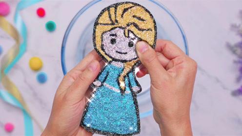 """把""""冰雪奇缘""""的艾莎公主做成花泥,捏碎的瞬间太解压了!无硼砂"""