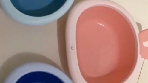 一眼就相中了粉色的盆子,洗脸一周后才发现……智障如我!