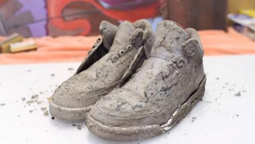 男子捡到一双20年前的球鞋,好奇清洗干净,上网一查发现赚了