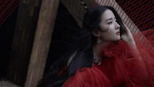 刘亦菲登芭莎开年封面与木兰跨时空相遇,华美从容锋不可当