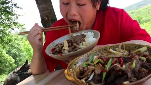 牛肉还在老方法做太亏了,胖妹解锁最馋人吃法,一锅米饭都被掏空