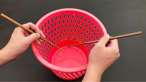 垃圾桶上放一根筷子,太聪明了,好多人不懂咋回事,家人都夸实用