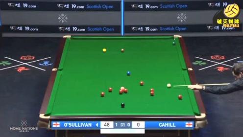 斯诺克苏格兰公开赛第二轮奥沙利文VS卡希尔,火箭5分钟狂轰111分回放