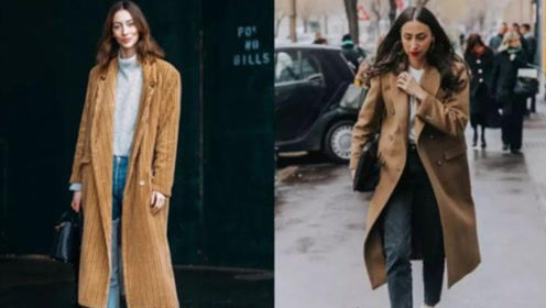驼色大衣到底怎么穿才好看?人手一件单品这样搭,不撞衫的时髦感