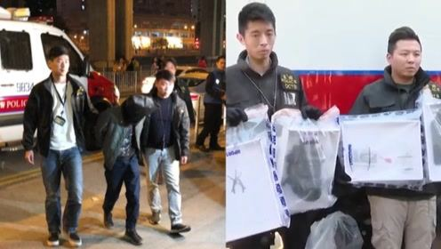 """现场!香港中学老师要袭警察总部 试爆遥控炸弹时被""""O记""""逮捕"""