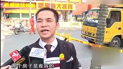 白云区一商务楼起火 还不时传出爆炸声