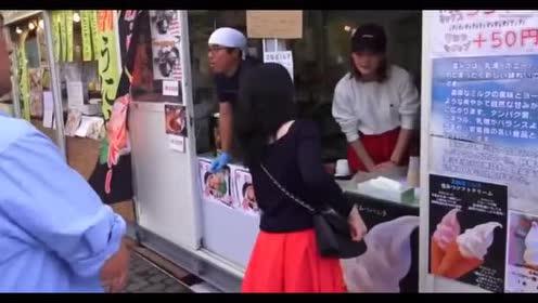 日本街头的烤海鲜!味道也是不错的