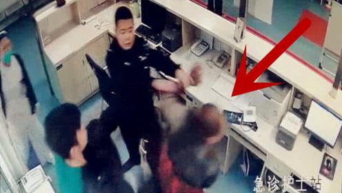 借酒生事!监拍:男子没病却非要住院 遭拒后大闹医院被当场制服