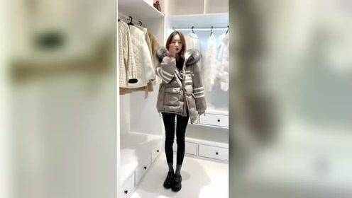 秋冬小个子女生穿搭示范,舒适保暖的外套搭配,时髦洋气有气质