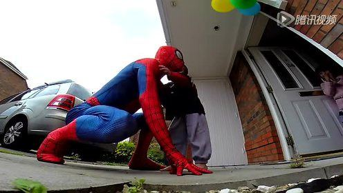 这么有爱!爸爸扮蜘蛛侠给孩子造惊喜