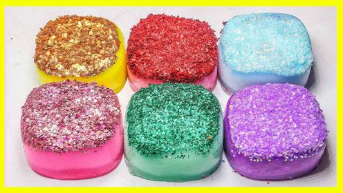培乐多水晶粘土月饼制作视频 亲子手工闪粉玩具颜色秀 亲子视频