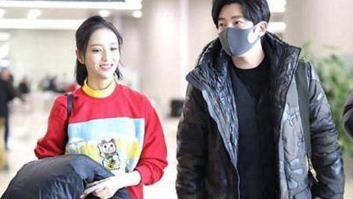 佟丽娅现身机场笑容甜美 与之合照郭京飞却撞脸杨洋
