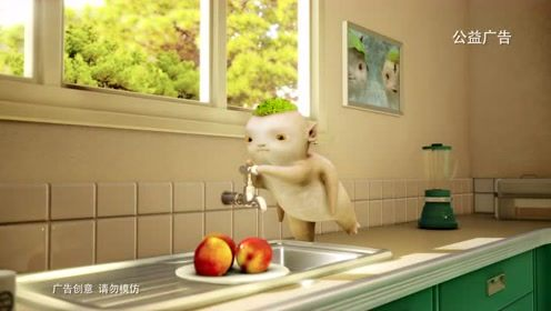 《捉妖记2》浙江卫视公益广告,胡巴笨笨提醒大家要节约用水哦