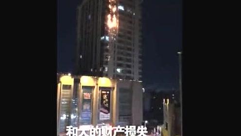哈尔滨一写字楼因燃放烟花起火 未造成人员伤亡