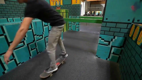当跑酷与滑板结合在一起,这个场地太帅了!