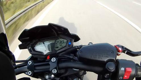 你想象不到的速度!川崎Kawasaki Z800e 极速测试