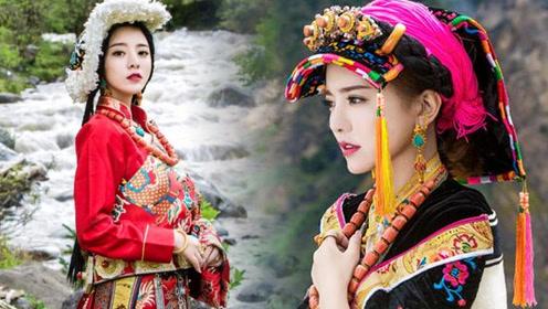 """""""康巴第一美女""""阿兰 穿着多款藏族服饰美出天际"""