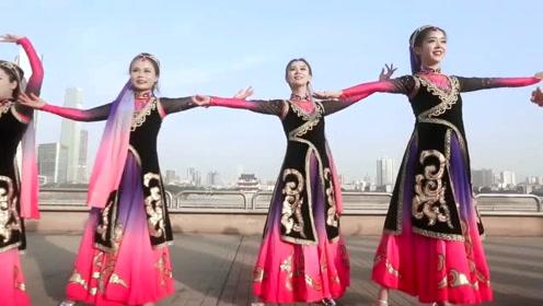 维族舞《古丽》菇凉们颜值好高