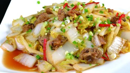 营养美味又减肥的油渣白菜