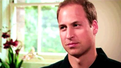 威廉王子回看母亲戴安娜生前短片,画面中戴妃回头那刻已泪目
