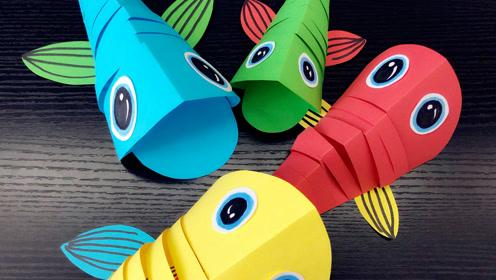 大鱼吃小鱼能有多少鱼创意手工和设计师妈妈一起快乐儿童手工绘画