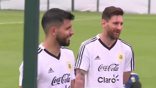 梅西与其阿根廷主队初现布龙尼齐 首次公开现场训练