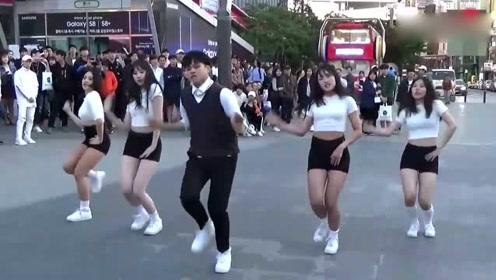 魔性编排精彩舞蹈,街头演绎鸟叔电音单曲,太欢乐!