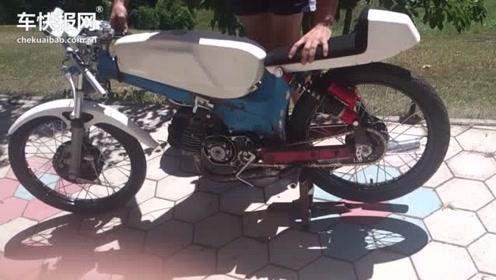 这100cc的二冲车 也太暴力了 声浪显现出的就是暴力