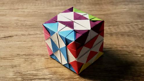 亲子手工 超简单的组合魔方折纸 一学就会哦!
