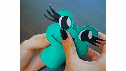 4个生活小妙招:简单几步,制作出有趣的提线青蛙玩具!
