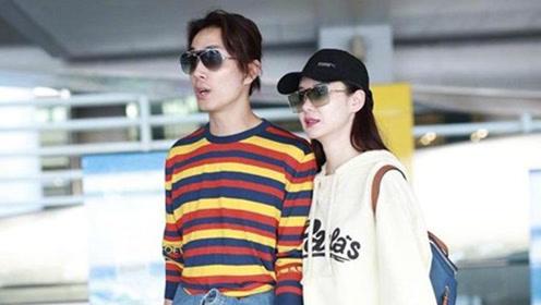 戚薇李承铉夫妇亮相上海机场 2人4腿引网友关注