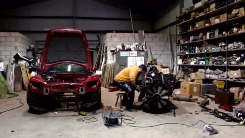 怎么把卡车发动机塞进一台马自达 RX-8?