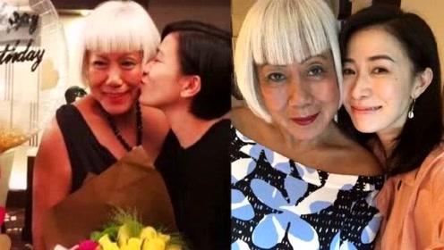 佘诗曼为妈妈庆生晒亲密合影,母女俩脸部轮廓就像一个模子印的