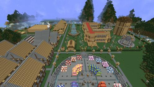 血舞Crazy我的世界天空秘境36 发现大型人类村庄