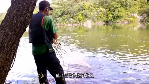 这条河里究竟发生了什么?每一网下去都是巨型罗非鱼!