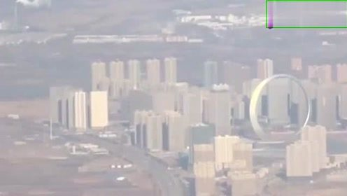 从沈阳的飞机场坐飞机回家,飞到半空就被这大圆环吸引了,真厉害