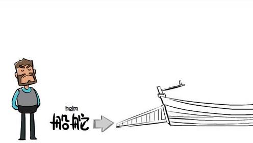航海家动画 小御的航海百科动画片第4集 索具系统,夹绳器,舵,锚