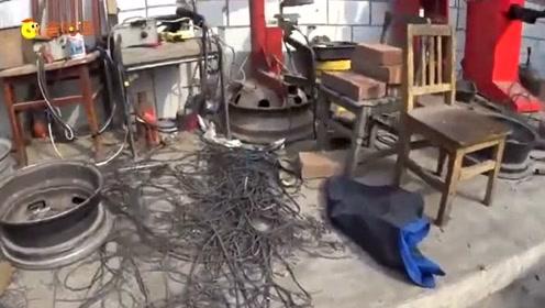 """""""起死回生""""的废旧轮胎 小作坊翻新旧胎已成产业"""