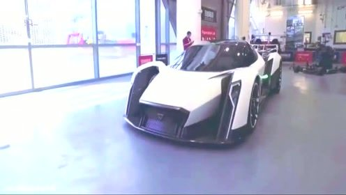 实拍新加坡车展第一次表态Dendrobium电动超跑全球仅10辆的超跑