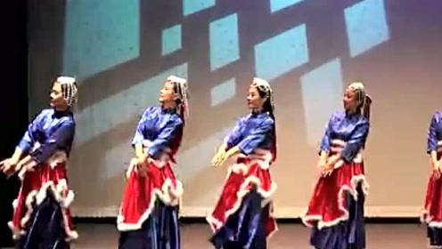 藏族舞蹈《吉祥谣》舞蹈视频 柔美轻盈民族舞