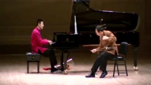 朗朗和父亲钢琴二胡合奏《赛马》,外国人听完纷纷起立,掌声不断