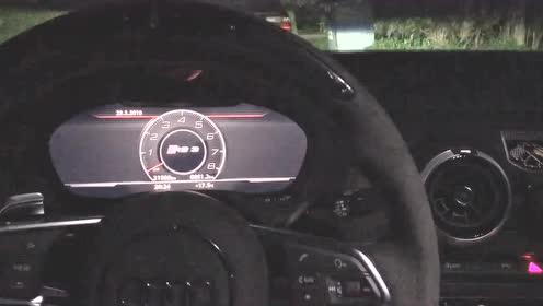 奥迪RS3启动声浪,五缸就是不一样