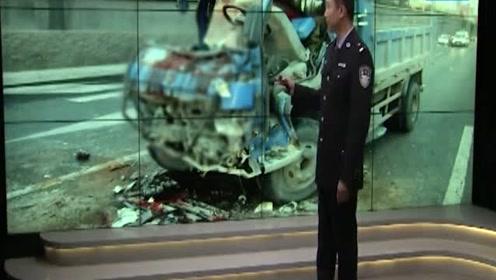 马路现一辆粉碎的货车,被发现时驾驶员已身亡,现场惨不忍睹