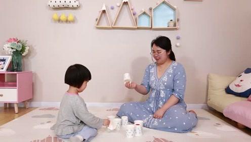 呼噜亲子游戏:废物利用,纸杯碰碰吃