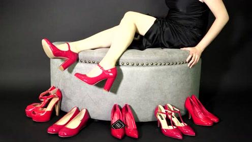 6双红色高跟鞋,风格迥异各有特色!