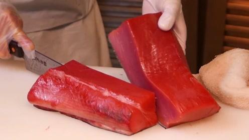 日本海鲜市场隐藏的料理店,金枪鱼直接论斤称,一份估计也不便宜