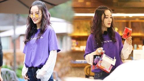 """李小璐复出不顺时尚品味倒提升 变身""""紫发少女""""全场最吸睛"""